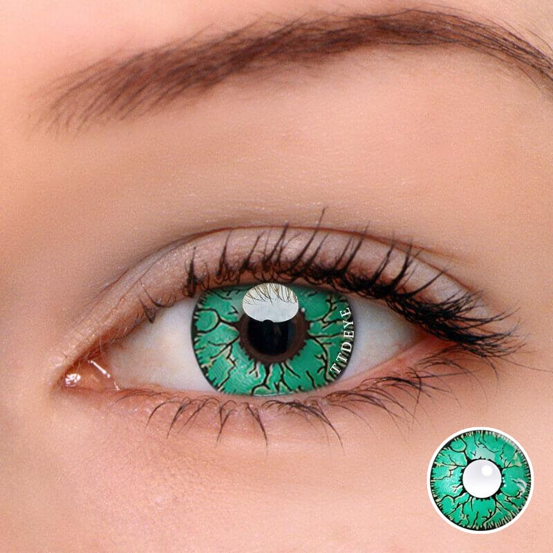 TTDeye Fissure Green Colored Contact Lenses