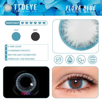 REAL x TTDeye Flora Blue Colored Contact Lenses