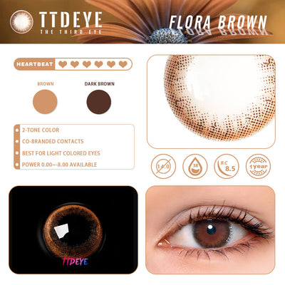 REAL x TTDeye Flora Brown Colored Contact Lenses