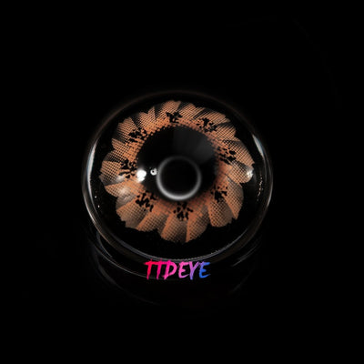 TTDeye Flower Brown Colored Contact Lenses