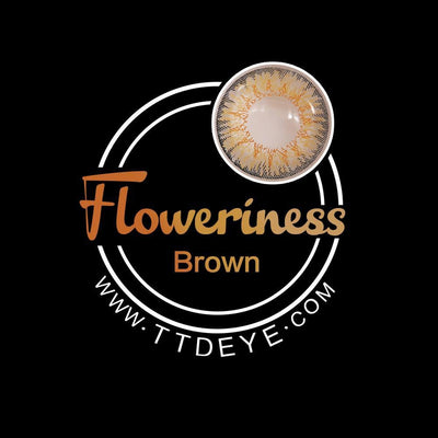 TTDeye Floweriness Brown Colored Contact Lenses