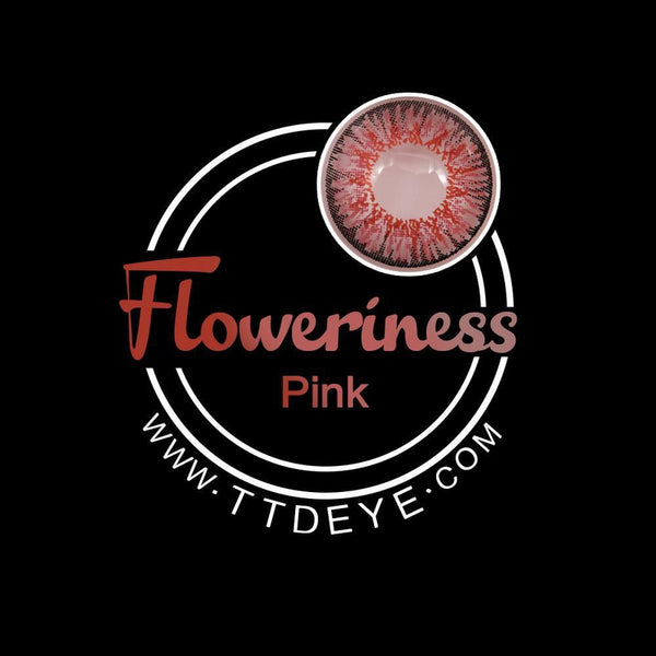TTDeye Floweriness Pink Colored Contact Lenses