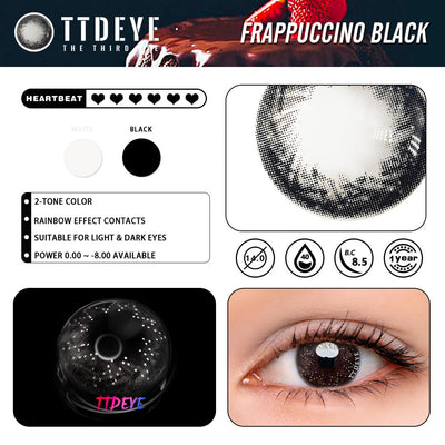 TTDeye Frappuccino Black Colored Contact Lenses