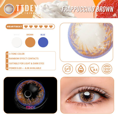 TTDeye Frappuccino Brown Colored Contact Lenses