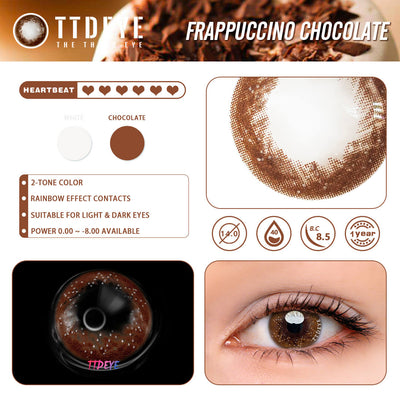 TTDeye Frappuccino Chocolate Colored Contact Lenses