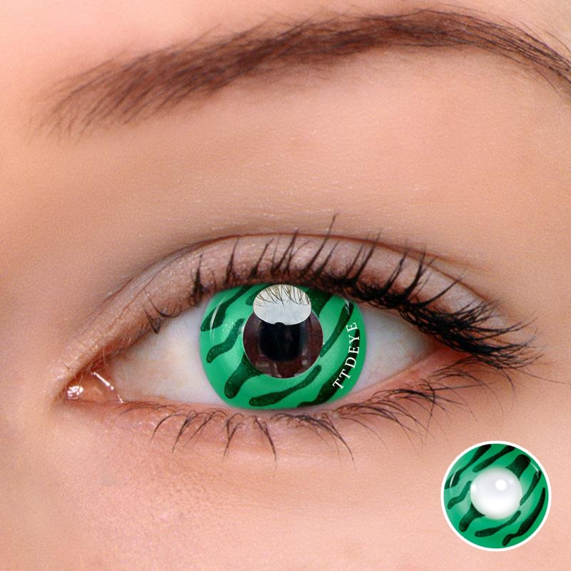 TTDeye Freak Cell Green Colored Contact Lenses
