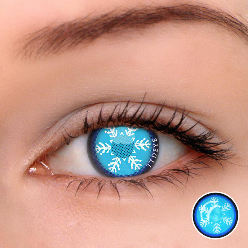 TTDeye Frozen Blue Colored Contact Lenses
