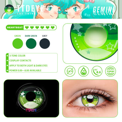 TTDeye Gemini Colored Contact Lenses