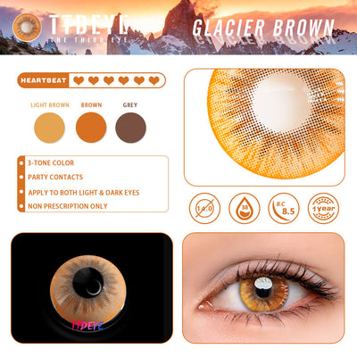 TTDeye Glacier Brown Colored Contact Lenses