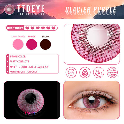 TTDeye Glacier Purple Colored Contact Lenses