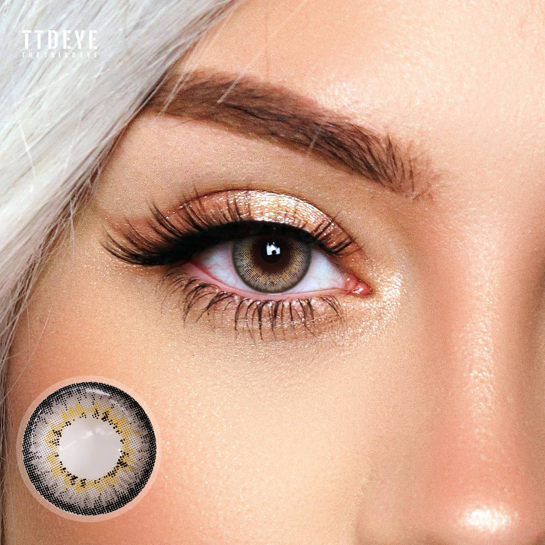 TTDeye Glow Grey Colored Contact Lenses
