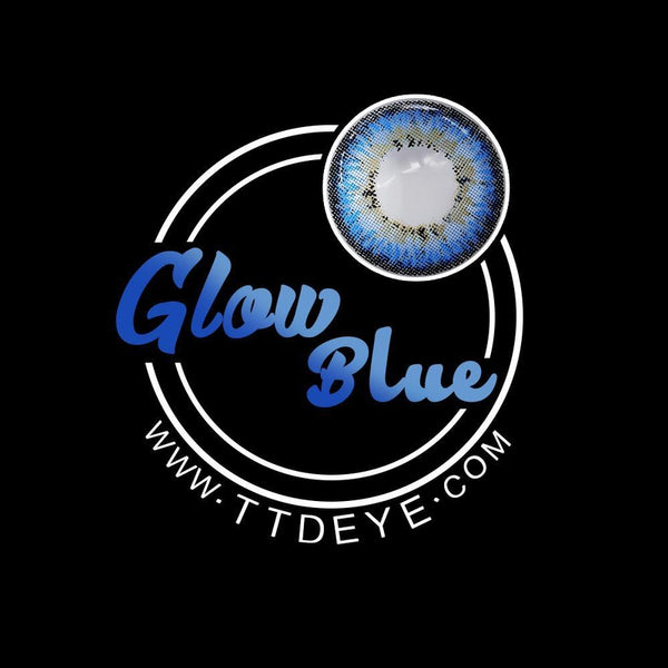 TTDeye Glow Blue Colored Contact Lenses