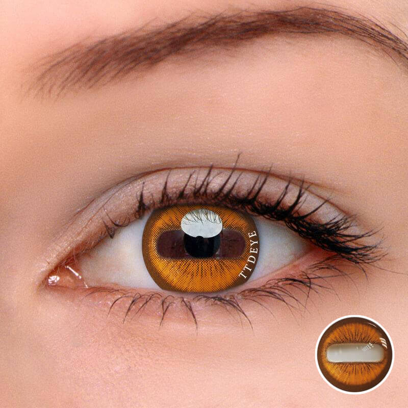 TTDeye Goat Eye Brown Colored Contact Lenses