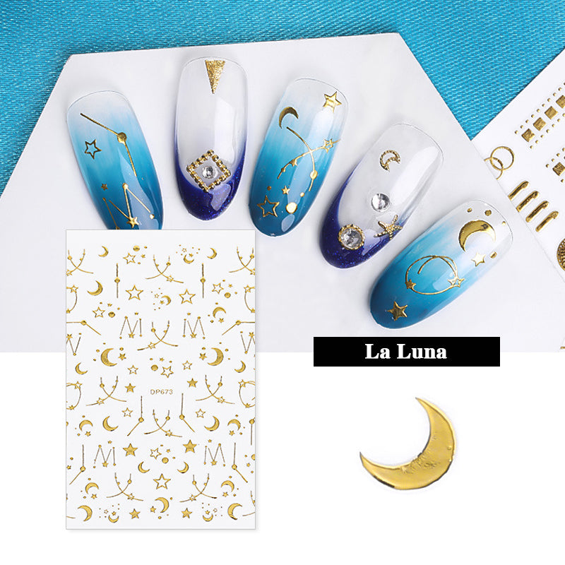 TTDeye Gold Leaf Nail Stickers