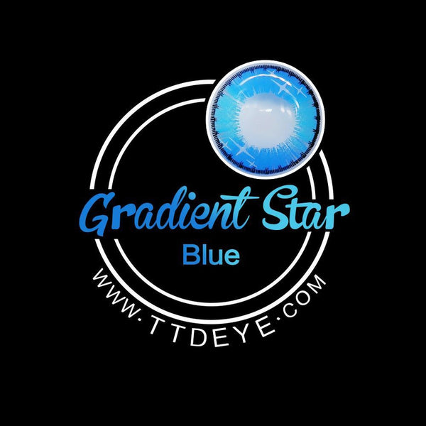 TTDeye Gradient Star Blue Colored Contact Lenses