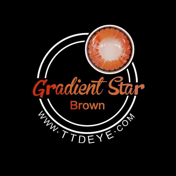 TTDeye Gradient Star Brown Colored Contact Lenses