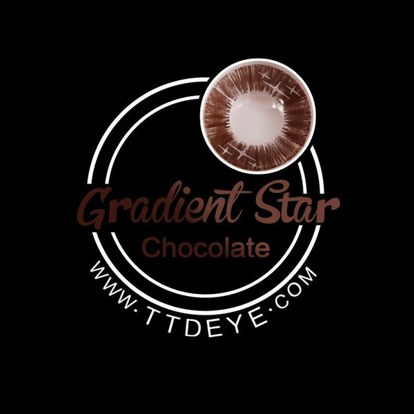 TTDeye Gradient Star Chocolate Colored Contact Lenses