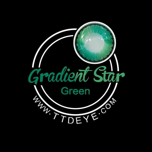 ttdeye gradient star green circle lenses logo