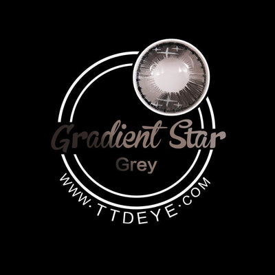 TTDeye Gradient Star Grey Colored Contact Lenses
