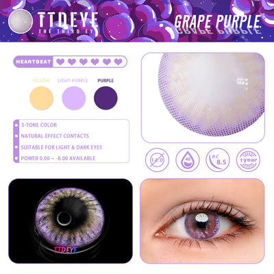 TTDeye Grape Purple Colored Contact Lenses