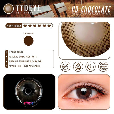 TTDeye HD Chocolate Colored Contact Lenses