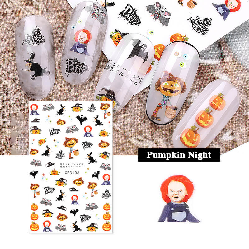 TTDeye Happy Halloween Nail Stickers