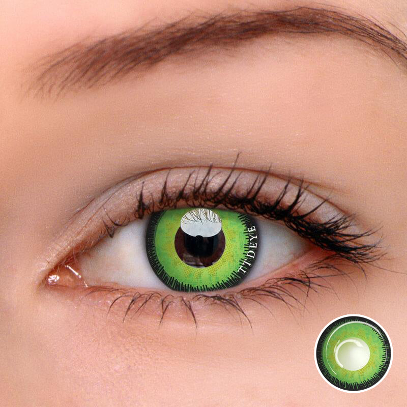 TTDeye Hawkgirl Green Colored Contact Lenses
