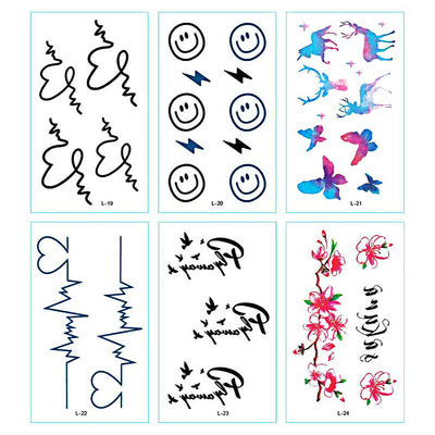 TTDeye Heartbeat 30 Piece Tattoo Stickers