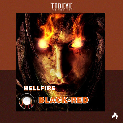 TTDeye Hellfire Black-Red Colored Contact Lenses