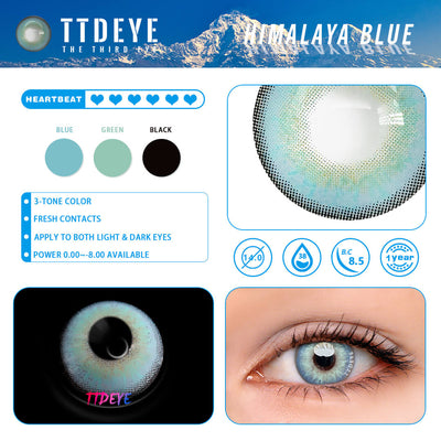 TTDeye Himalaya Blue Colored Contact Lenses