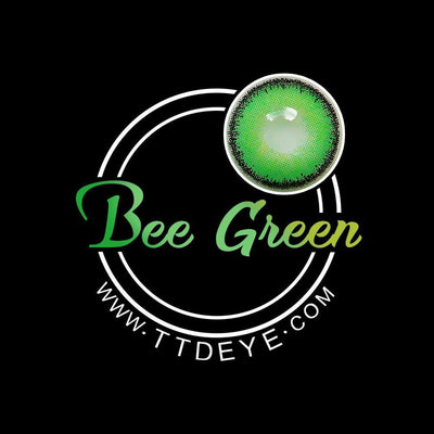 TTDeye Bee Green Colored Contact Lenses