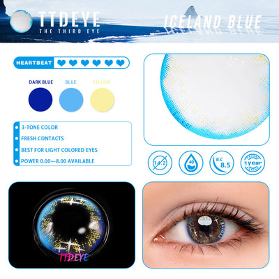 TTDeye Iceland Blue Colored Contact Lenses