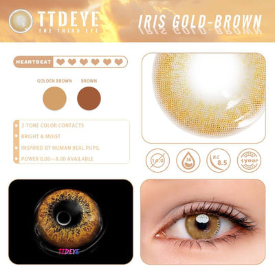 TTDeye Iris Gold-Brown Colored Contact Lenses