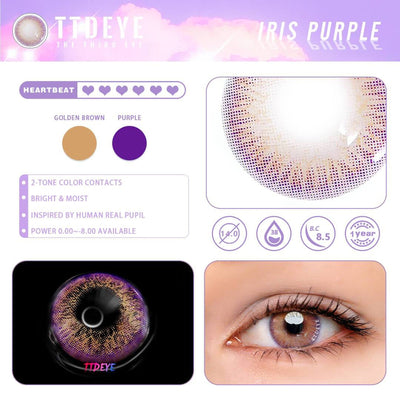 TTDeye Iris Purple Colored Contact Lenses