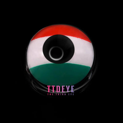 TTDeye Italian Flag Colored Contact Lenses
