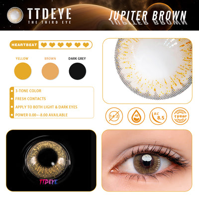 TTDeye Jupiter Brown Colored Contact Lenses
