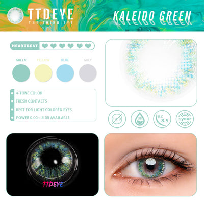 TTDeye Kaleido Green Colored Contact Lenses