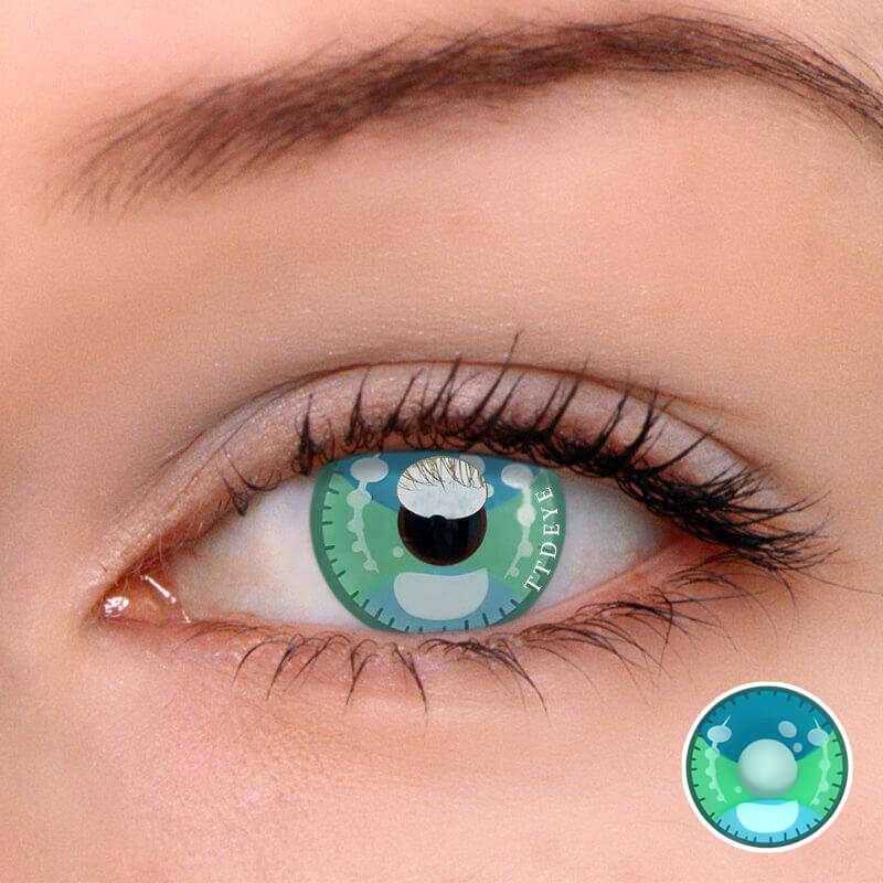 TTDeye Kawaii Green Colored Contact Lenses