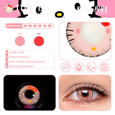 TTDeye Kitty Pink Colored Contact Lenses