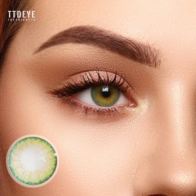 TTDeye Kiwi Green Colored Contact Lenses