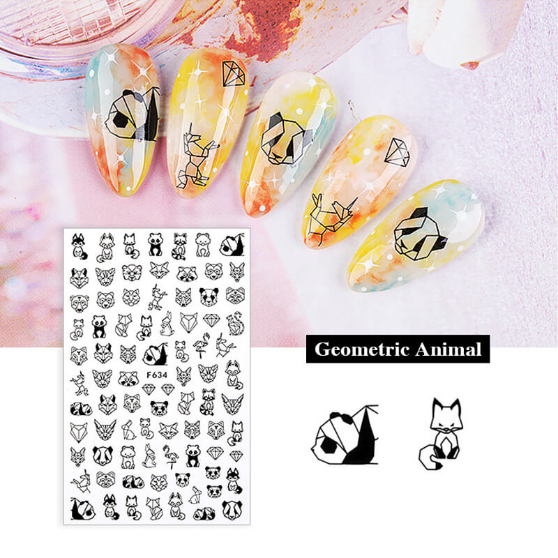 TTDeye Line Drawing Nail Stickers