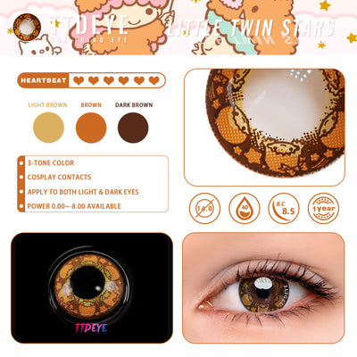 TTDeye Little Twin Stars Colored Contact Lenses