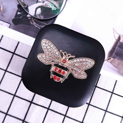TTDeye Luxury Rhinestones Bee Lens Case