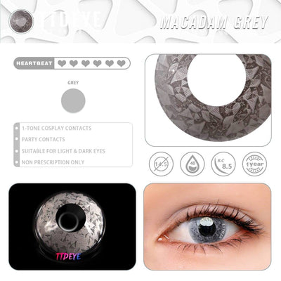 TTDeye Macadam Grey Colored Contact Lenses