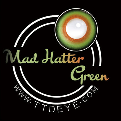 TTDeye Mad Hatter Green Colored Contact Lenses