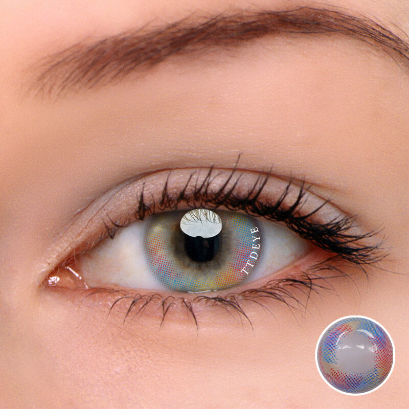 TTDeye Mermaid Tears Brown-Pink Colored Contact Lenses