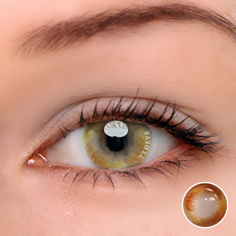 TTDeye Mermaid Tears Brown Colored Contact Lenses