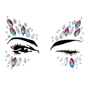 Mermaid Rhinestone Crystal Face Jewels