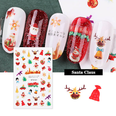 TTDeye Merry Christmas Nail Stickers