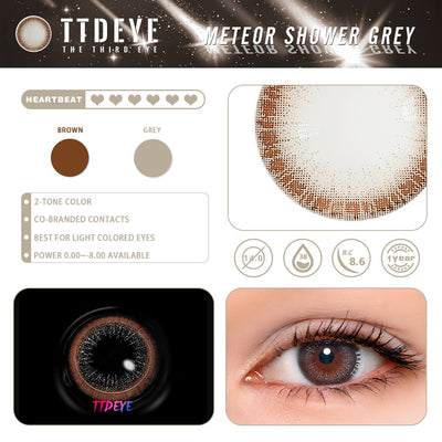 REAL x TTDeye Meteor Shower Grey Colored Contact Lenses